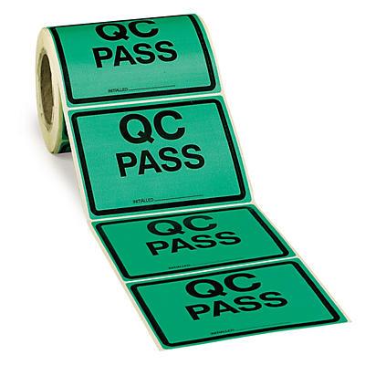 Large quality control labels