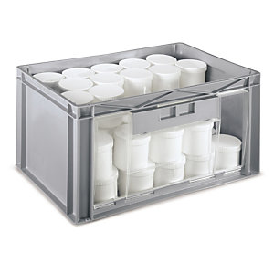 Stackable Storage Containers With End Opening Rajapack