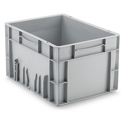 Large stackable plastic storage containers