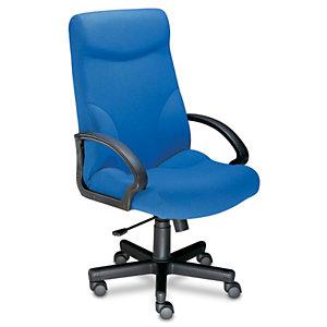Laureat Confort Sillón de dirección, tela, altura 115-125 cm, azul