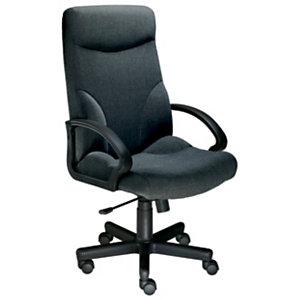 Laureat Confort Sillón de dirección, tela, altura 115-125 cm, negro