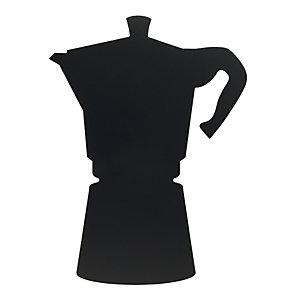Lavagna da parete Silhouette Moka con 1 marcatore a gesso e adesivi a strappo inclusi, Nero