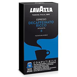 Lavazza Espresso Decaffeinato Ricco Capsule per caffè, Espresso, Tostatura nobile, 10 dosi, 50 g, Compatibile Nespresso®*