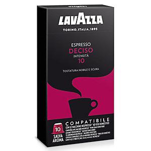 Lavazza Espresso Deciso Capsule per caffè, Espresso, Tostatura nobile e scura, 10 dosi, 50 g, Compatibile Nespresso®*