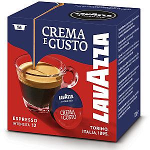 Lavazza A Modo Mio Crema e Gusto, Capsule per caffè, Espresso, Tostatura media, 16 dosi, 120 g