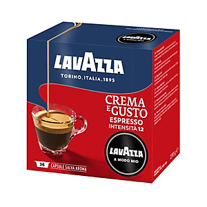 Lavazza A Modo Mio Crema e Gusto, Capsule per caffè, Espresso, Tostatura media, 36 dosi, 270 g
