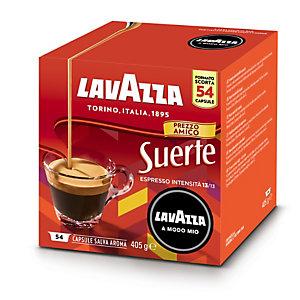Lavazza A Modo Mio, Suerte, Capsule per caffè Espresso, Tostatura scura, 54 dosi, 405 g (confezione 54 capsule)