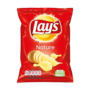 LAY'S 20 Paquets de Chips LAY'S nature 45g