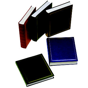 LEBEZ Album portafoto in vinile - verde - 30 x 33cm - 50fg - fogli in cartoncino con velina - Lebez