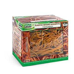 LEBEZ Elastici - caucciU' - misure assortite - Lebez - scatola da 500 gr