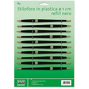 LEBEZ Penna ricambio con refill - diametro 10,00 mm - nero - Lebez - conf. 10 pezzi