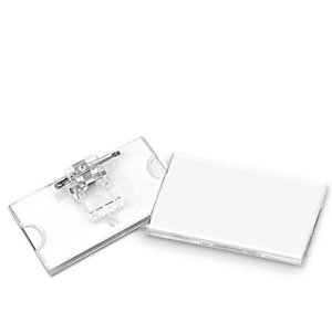 LEBEZ Portabadge con clip e spilla - 6,5 x 3 cm - Lebez