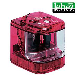 LEBEZ Temperamatite elettrico 4306  con contenitore - 2 fori  - colori assortiti - Lebez