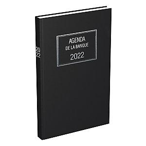 Lecas Agenda de Banque large - 18 x 29 cm - 2 volumes - 2022
