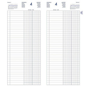 Lecas Agenda de Banque long - 15 x 34 cm - 1 volume - 2021
