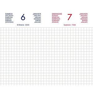 Lecas Agenda journalier CHANTIER - 8 x 13 cm - 2021