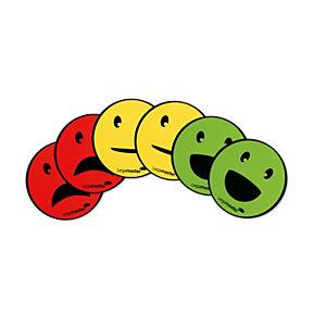 Legamaster Assortiment de 6 EMOTICONES magnétiques – 140 x 80 x 5 mm – Coloris rouge, jaune, vert