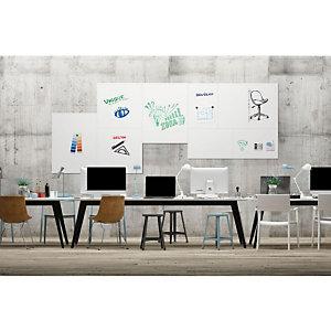 LEGAMASTER Board-Up tableau blanc mural en acier laqué, magnétique, sans cadre - 75 x 50 cm