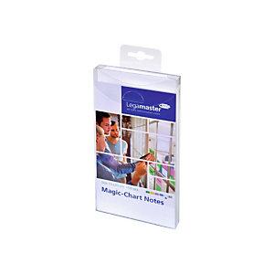 LEGAMASTER Magic-Chart, bloc de feuilles, 10 x 20 cm, blanc (paquet 100 unités)