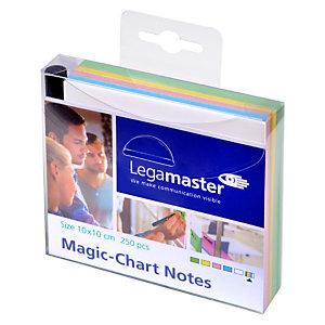 LEGAMASTER Magic-Chart, feuilles, 10 x 10 cm, coloris assortis (paquet 250 unités)