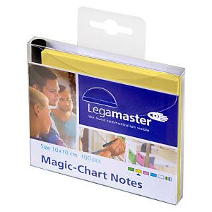 LEGAMASTER Magic-Chart, feuilles, 10 x 10 cm, jaune (paquet 100 unités)