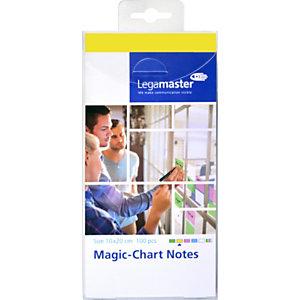 Legamaster Magic-Chart Foglietti elettrostatici riposizionabili, 10 x 20 cm, Giallo (confezione 100 fogli)