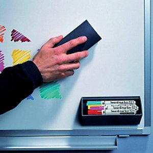 Legamaster Porta marcatori magnetico con cancellino, Plastica, Colore antracite