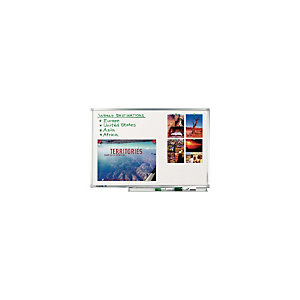 LEGAMASTER Tableau blanc professionnel avec surface émaillée magnétique 90 x 120 cm