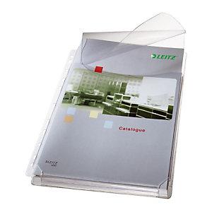 LEITZ 5 Pochettes perforées lisses de qualité supérieure, A4, PVC 170 microns, 11 trous, transparente