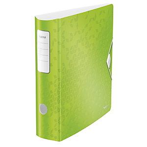 Leitz Active Wow Archivador de palanca de 180º, A4, Lomo 75 mm, Capacidad 500 hojas, Polipropileno, Verde