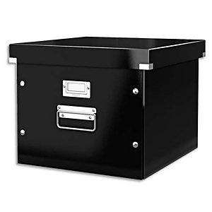 LEITZ Boîte Click & Store taille M p/dossiers suspendus à bouton pression L35,6xH28,2xP37cm, Noir