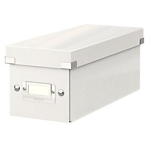 Leitz boîte de rangement Click & Store pour DVD - Blanc