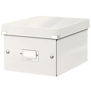 Leitz Boîte de rangement Click & Store - Format A5 - Blanc