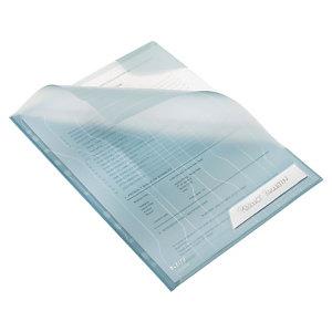 Leitz Combifile Dossier uñero, A4, polipropileno de 200 micras, 11 orificios, rugosa, azul transparente