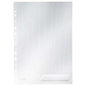 Leitz Combifile Dossier uñero, A4, polipropileno de 200 micras, 11 orificios, rugosa, blanco transparente