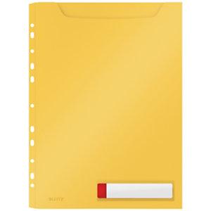 Leitz Cosy Funda perdorada de privacidad de alta capacidad, paquete de 3 fundas, A4, Amarillo cálido