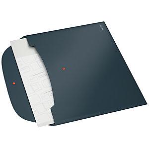 Leitz Cosy Porte-documents de confidentialité PP - 2 pochettes capacité 50 feuilles A4 - Gris