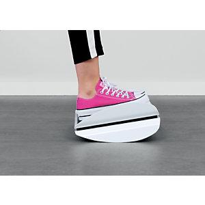 Leitz Ergo WOW - Repose-pieds ergonomique - Hauteur ajustable - Noir et Blanc