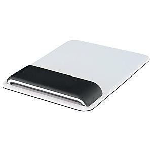 Leitz Ergo WOW - Tapis de souris ergonomique - Repose-poignets intégré - Hauteur ajustable - Blanc et Noir