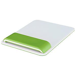 Leitz Ergo WOW - Tapis de souris ergonomique - Repose-poignets intégré - Hauteur ajustable - Blanc et Vert