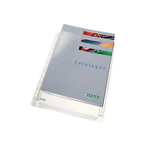 Leitz Funda perforada, A4, PVC de 170 micras, 11 orificios, rugosa, transparente