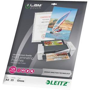 Leitz iLam Fundas de plastificación, A3, 125 micras