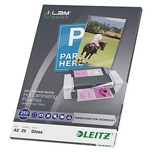 Leitz iLam Fundas de plastificación, A3, 250 micras