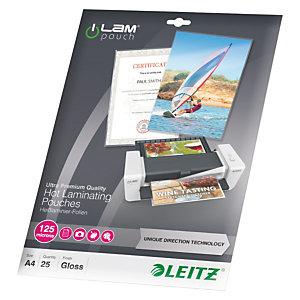 Leitz iLam Fundas de plastificación, A4, 125 micras