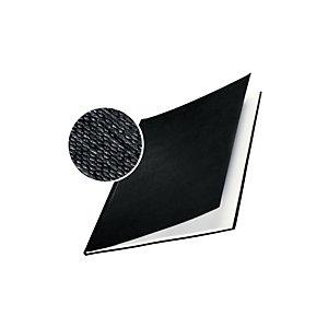 Leitz ImpressBIND Cubiertas de encuadernación, A4, cartón forrado textura lino, para 141-175 hojas, negro