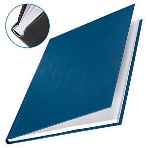 Leitz ImpressBIND Cubiertas de encuadernación, A4, cartón forrado textura lino, para 176-210 hojas, negro