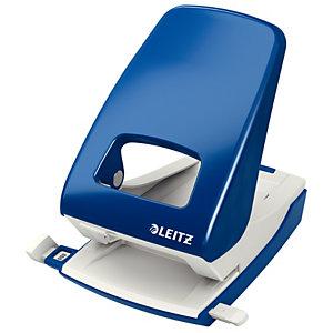 Leitz NeXXt Perforatore da ufficio in metallo robusto, Capacità di perforazione 4 mm/40 fogli, 2 fori, Colore blu