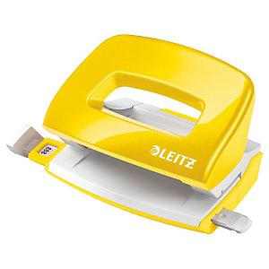 Leitz NeXXt Series 5060 WOW, Mini perforatore 2 fori, Capacità 10 fogli, Giallo