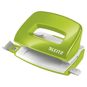 Leitz NeXXt Series 5060 WOW, Mini perforatore 2 fori, Capacità 10 fogli, Verde lime