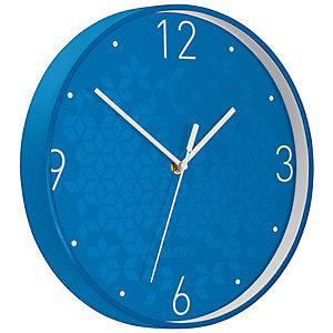 Leitz Orologio da parete WOW, Ø 29 cm, Azzurro metallizzato